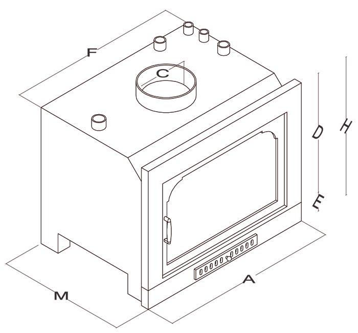 Inserti a legna - Mod. Plasma - Camini & Camini - TCM